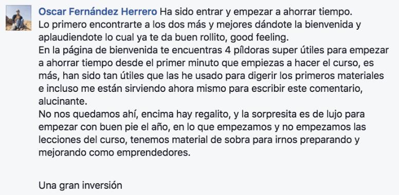 PROEM PRODUCTIVIDAD EMPRENDEDORA TESTIMONIO OSCAR FERNANDEZ